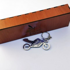 Motosiklet Aynalı Pleksi Anahtarlık