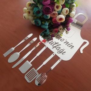Ayna Pleksi Mutfak Önlüğü İsimli Mutfak Dekoru