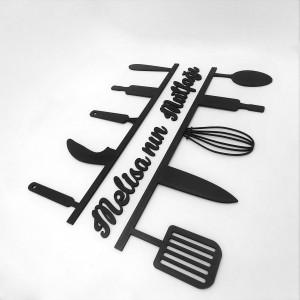 Ahşap İsimli Mutfak Dekoru