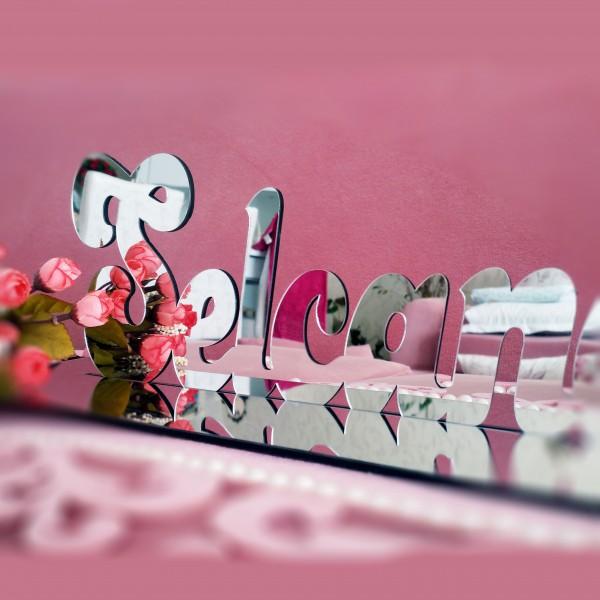 Söz, Nişan, Düğün Ayna Pleksi Masaüstü İsimlik