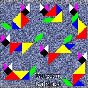 Kişiye özel İsimli Bulmaca Tangram