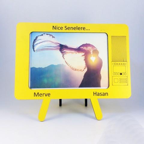 Televizyon Masaüstü Resim Çerçevesi