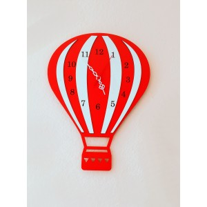 Uçan Balon Ahşap Duvar Saati