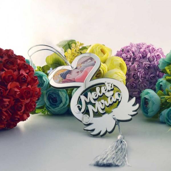 Fotoğraflı Sevgiliye Özel Dekoratif Dikiz Ayna Süsü