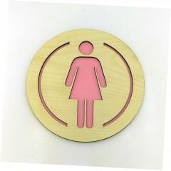 Yuvarlak Bayan WC Tabela Yönlendiricisi
