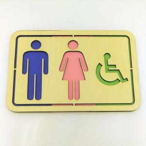 WC Tabela Yönlendiricisi (Erkek-Kadın-Engelli)