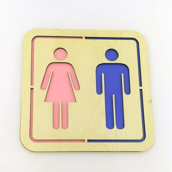 WC Tabela Yönlendiricisi (Erkek-Kadın) Model 2
