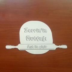 İsme Özel Merdane-Hamur Ayna Pleksi Mutfak Süsü