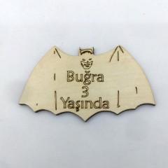 Batman Silüetli Ahşap Magnet