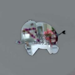 Fil  Silüetli Ayna Pleksi Magnet