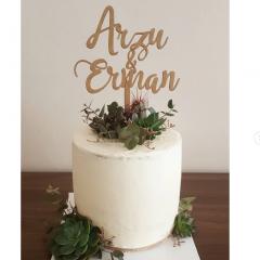 Ahşap Pasta Yazısı