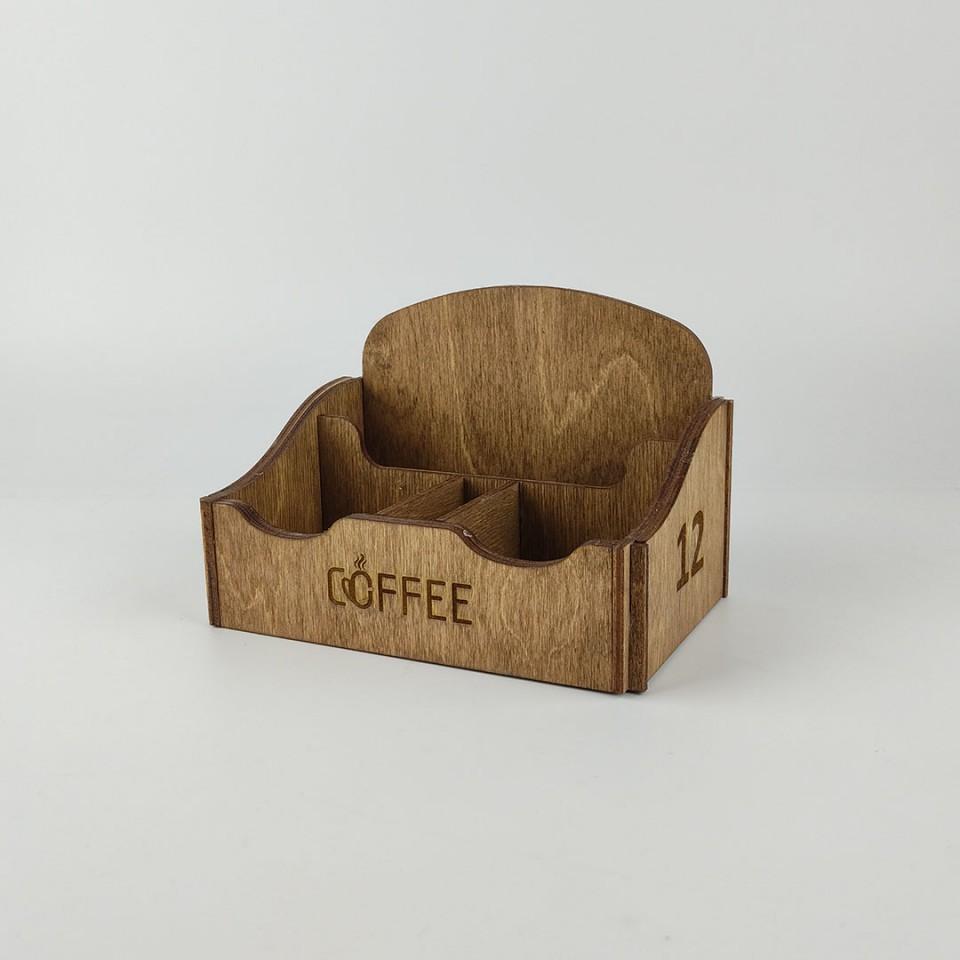 Ahşap Peçeteli Kafe - Restoran Menaj Takımı Model 1