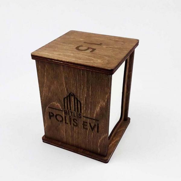 Ahşap Kafe-Restoran Dispenser Peçetelik Model 1