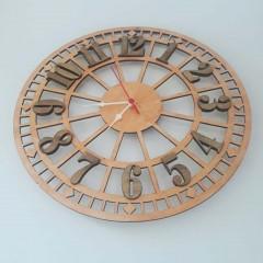 İthal Ahşap Dekoratif Duvar Saati Model 1