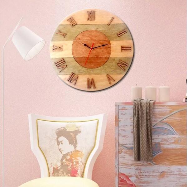 İthal Ahşap Dekoratif Duvar Saati Model 2