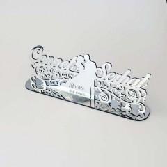 Gelin Damat Silüetli Ayna Pleksi İsimlik