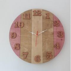 İthal Ahşap Dekoratif Duvar Saati Model 4
