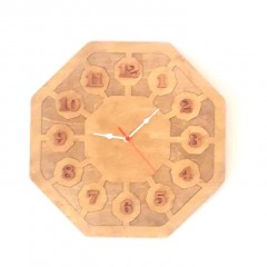 İthal Ahşap Dekoratif Duvar Saati Model 7
