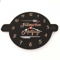 Ahşap Mutfak Duvar Saati Model 1