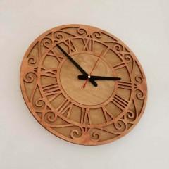 İthal Ahşap Dekoratif Duvar Saati Model 8
