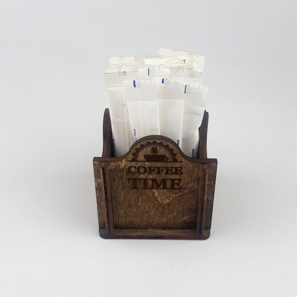 Ahşap Kafe Stick Şekerlik Model 2