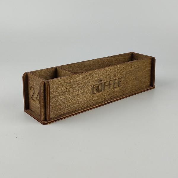 Ahşap Kafe Peçetelik - Şekerlik Model 1