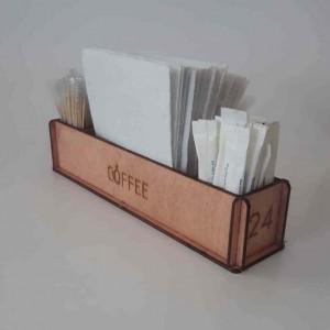 Ahşap Kafe Peçetelik - Şekerlik Model 3
