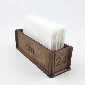 Ahşap Kafe-Restoran Peçetelik Model 4