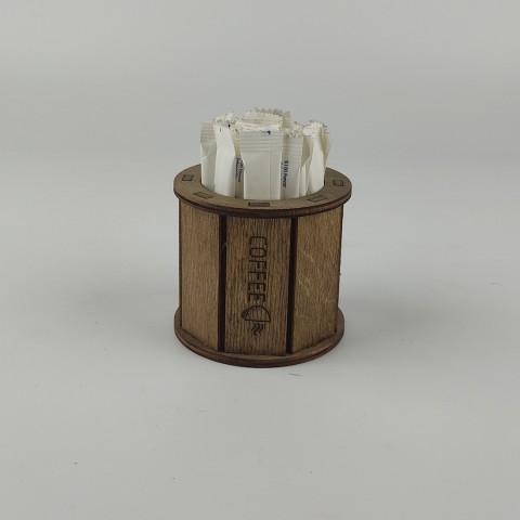 Ahşap Kafe Stick Şekerlik Model 3