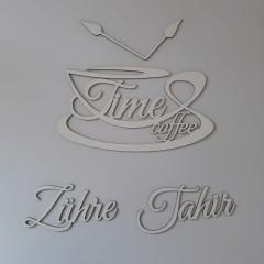 Ahşap İsimli Coffee Time Mutfak Dekoru Model 2