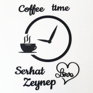 Ahşap İsimli Coffee Time Mutfak Dekoru Model 3