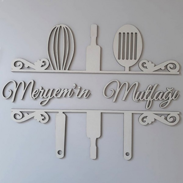 Ahşap İsimli Mutfak Dekoru Model 3