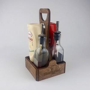Ahşap Sosluk Kafe-Mutfak Masa Düzenleyici Model 10