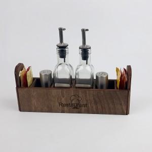 Ahşap Sosluk Kafe-Mutfak Masa Düzenleyici Model 7