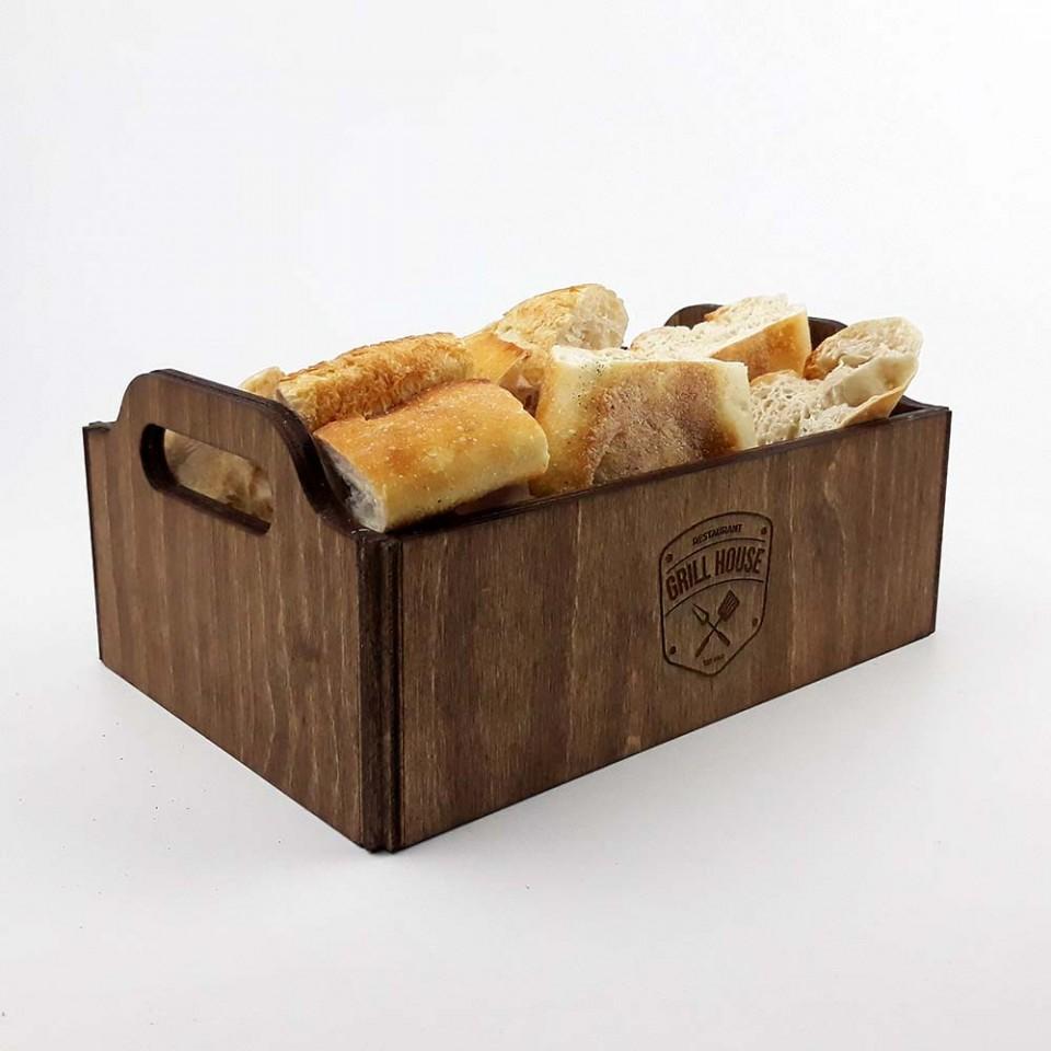Ahşap Ekmek Sepeti Model 3