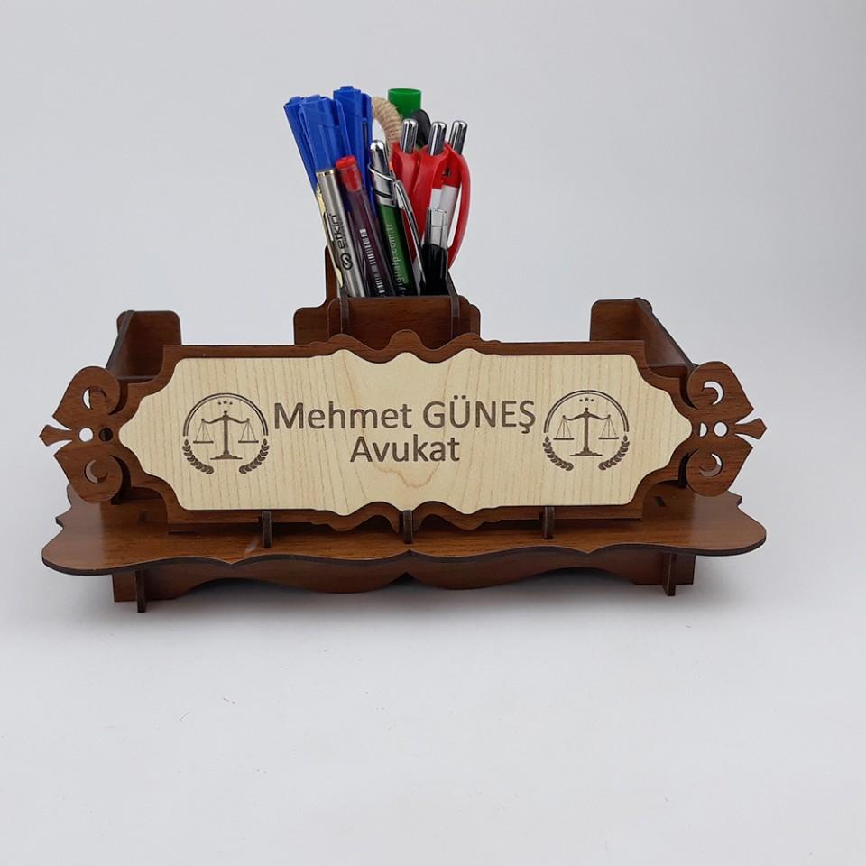 Ahşap İsimlik ve Masaüstü Düzenleyici Set Model 2