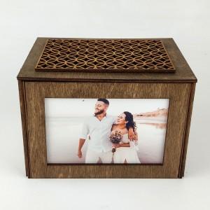 Sevgiliye Özel Fotoğraflı Ahşap Hediye Kutusu Model 1
