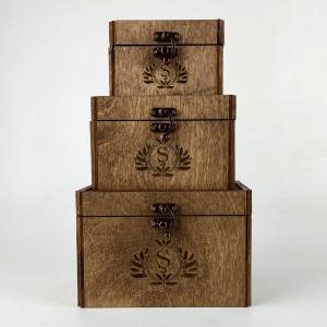 Ahşap Sandık Hediye Kutusu Set