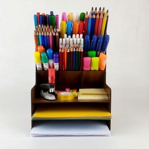 MDF Ahşap Masaüstü Düzenleyici Kalemlik  Seti Organizer Model 1