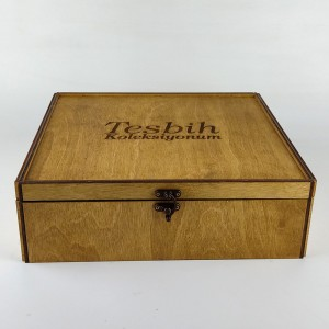 Ahşap 20'li Kilitli Sandık Tesbih Kutusu Model 1