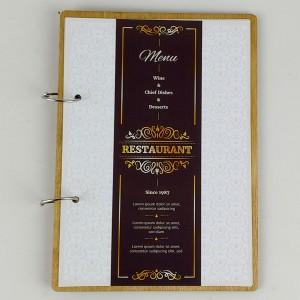 Kafe Restoran Ahşap Menü Kabı Model 8