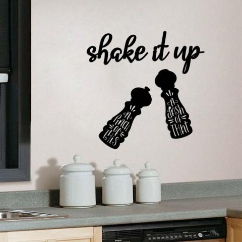 shake it up Ahşap Yazı