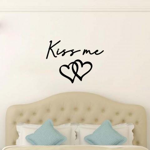 Kiss me Ahşap Yazı